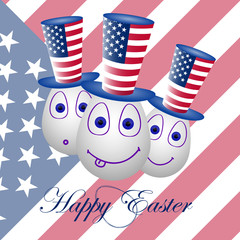 Card happy Easter for the USA 1