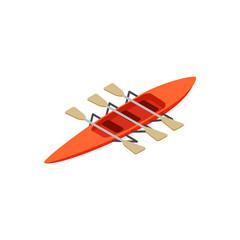 Rowing isometric 3d icon
