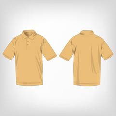 Light brown polo shirt isolated vector