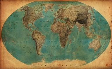 Fototapeta vintage map obraz