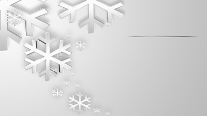 Abstract White Snowflakes