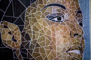 Streetart: Gesicht einer Frau
