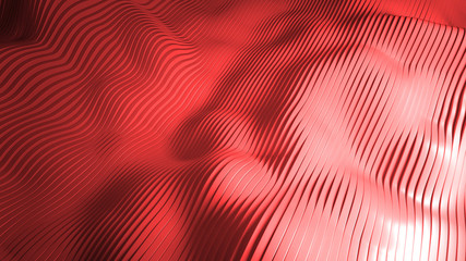wavy abstract background made of sliced shapes