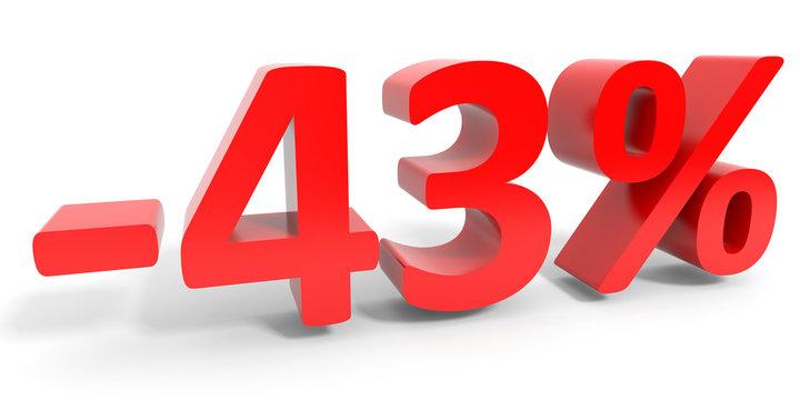 Discount 43 percent off sale.