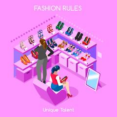 Fashion Moods 06 People Isometric
