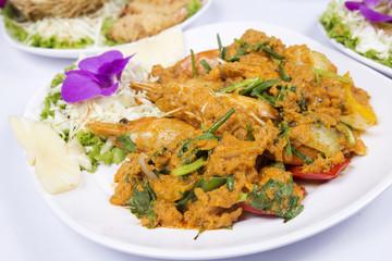 Stir Fried Shrimp with Curry Powder