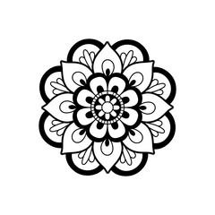 black and white mandala. Vector element for design
