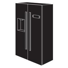 Refrigerator icon.