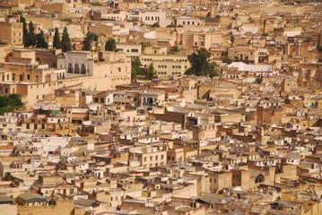 Marokko - Panorama der Altstadt von Fes