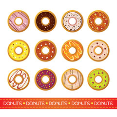 Icons for a donuts menu