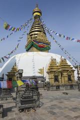 KATHMANDU, NEPAL - FEBRUARY 10, 2015: Stupa in Swayambhunath Mon