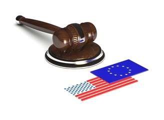 Hammer of justice. USA vs EU