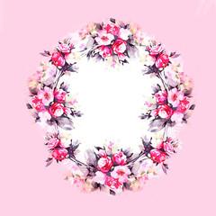 Decorative floral frame.