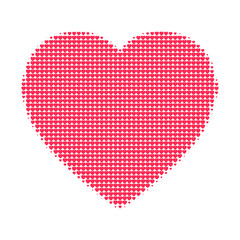 Halftone pattern heart illustration vector