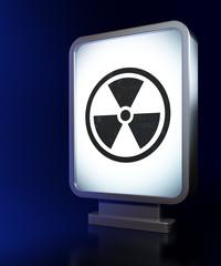 Science concept: Radiation on billboard background