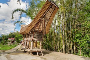 Tongkonan traditional rice barn