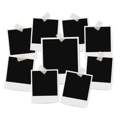 photo frames composition on white background. vector design temp