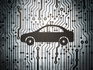 Tourism concept: circuit board with Car