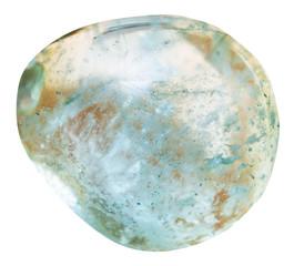 tubmled aquamarine (blue beryl) mineral gem