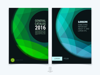 Set of abstract colorful layout brochure, magazine, flyer design