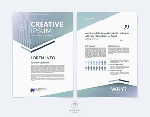 Business brochure, flyer and cover design layout template with l