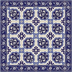 Gorgeous seamless  pattern  white Turkish tiles and border., ornaments.  Can be used for wallpaper, pattern fills, web page background,surface textures.
