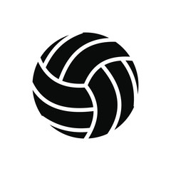 Volleyball ball black simple icon
