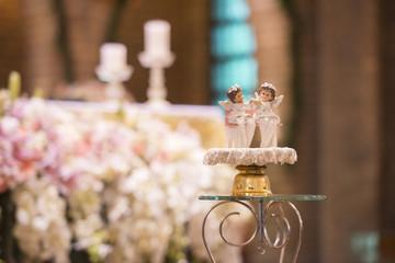 Christian wedding flower and decoration