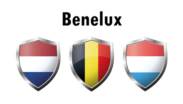 A set of Benelux countries flag  icon