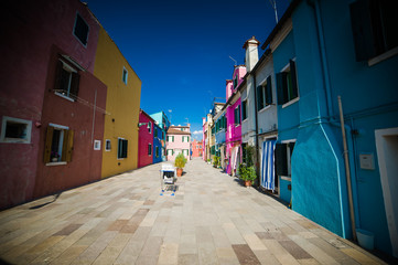 Burano is an island in the Venetian Lagoon, northern Italy; like Venice itself, it could more correctly be called an archipelago of four islands linked by bridges.