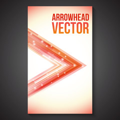 Abstract Straight Flow and Lines Arrowhead Brochure.