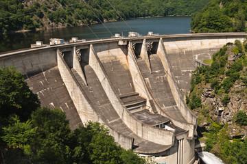Aluminium Prints Dam Barrage de l'Aigle (Corrèze Cantal)
