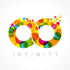 Infinity color logo. ColorfulI infinity loop symbol logo icon design template