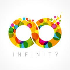 Infinity color logo. ColorfulI infinity loop symbol logo icon design template