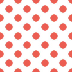 Halftone Dots Pattern. Halftone Red Background in Vector
