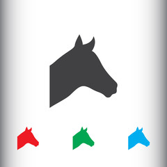 Horse icon for web and mobile
