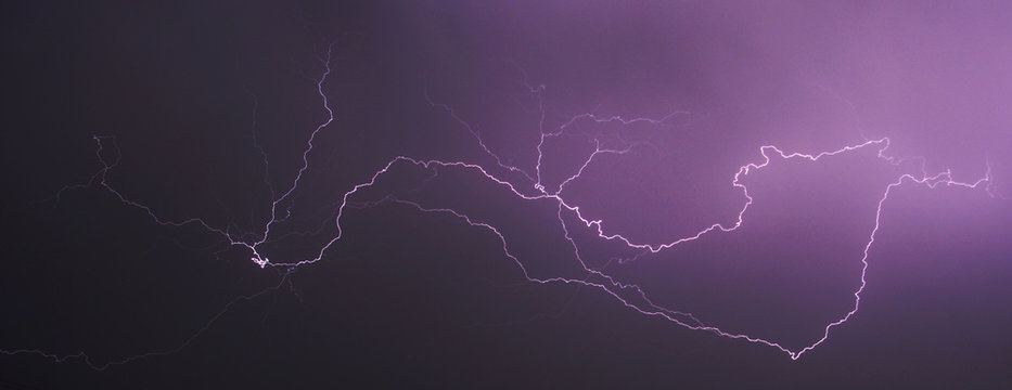 Storm and lightning at night II., abstract