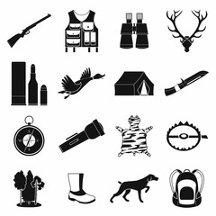 Hunting black simple icons