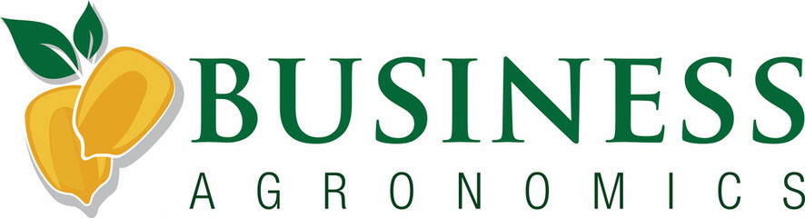 Agronomics business logo with corn and leaves
