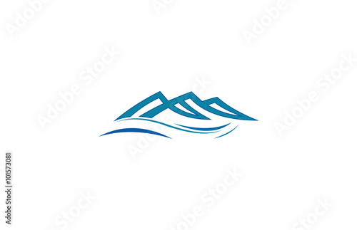 quot abstract mountain wave logoquot stock image and royalty