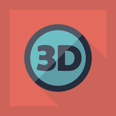 Flat modern design with shadow 3d video resolution