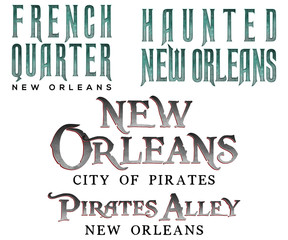 New Orleans Louisiana Word Art
