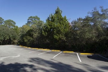 Empty parking lot in Myakka National Park, Florida