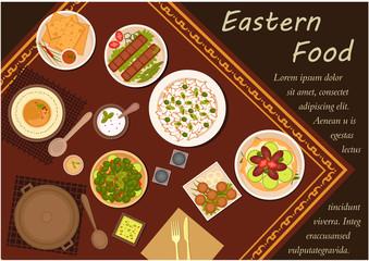 Arabian cuisine food with festive dinner