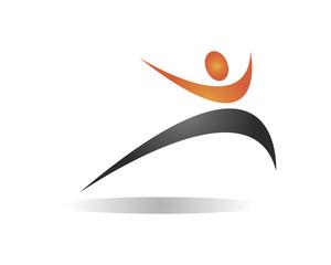 Fitness physic body sport logo icon vector