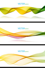 Abstract waves Wallpaper collection on white Background