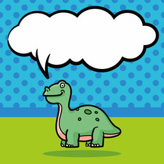 dinosaur doodle, speech bubble