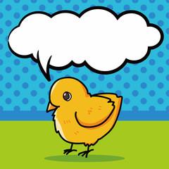 chicken doodle, speech bubble