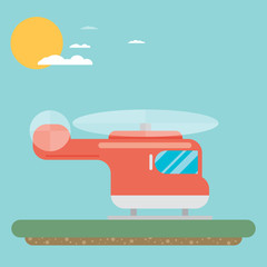 helicopter icon. Flat vector.