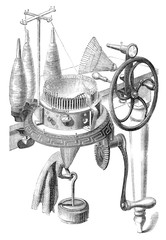 early invention knitting machine